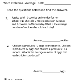 Fourth Grade Word Problems Worksheet Printable   Math Worksheets on Best  Worksheets Collection 3001 [ 1035 x 800 Pixel ]