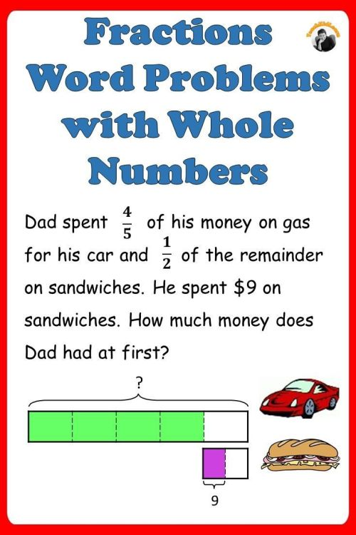 small resolution of Fractions Worksheets 4th 5th Grade - Multi Step Word Problems   Tpt on Best  Worksheets Collection 9378