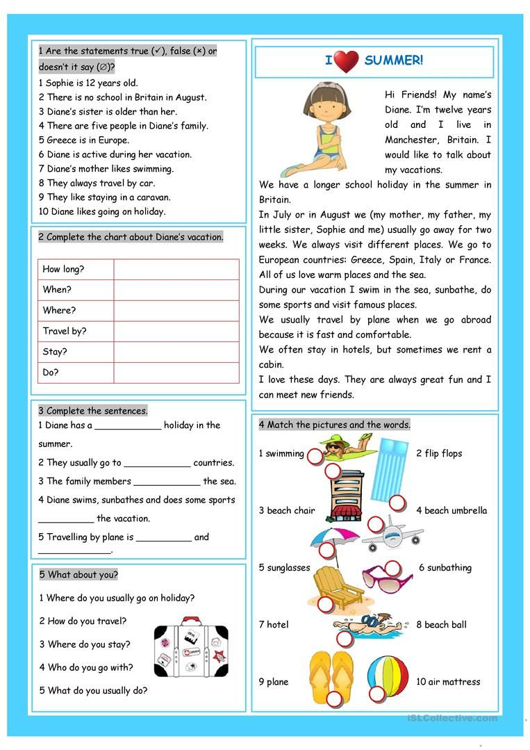 hight resolution of 7 Best Summer Worksheets For 7th Grade images on Best Worksheets Collection