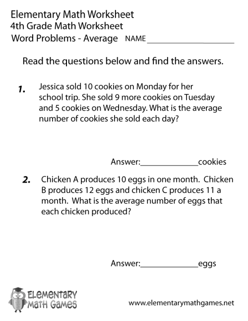 small resolution of Fourth Grade Word Problems Worksheet Printable   Math Worksheets on Best  Worksheets Collection 1655