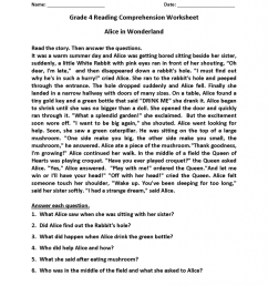 4th Grade Reading Comprehension Worksheets   Phonics Activities on Best  Worksheets Collection 7972 [ 1024 x 791 Pixel ]