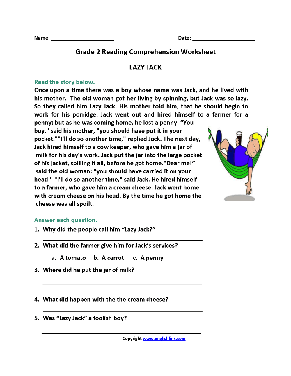 medium resolution of 9 Best 4th Grade Reading Skills Worksheets images on Best Worksheets  Collection