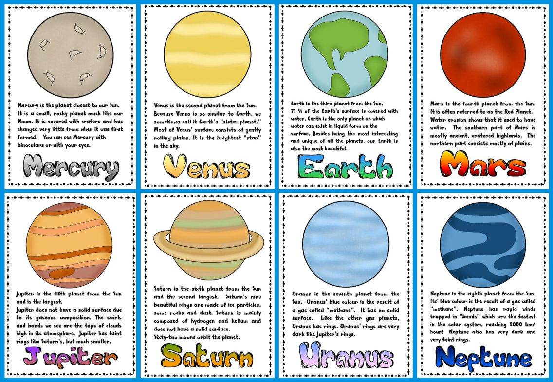 Planet Worksheets For Kids