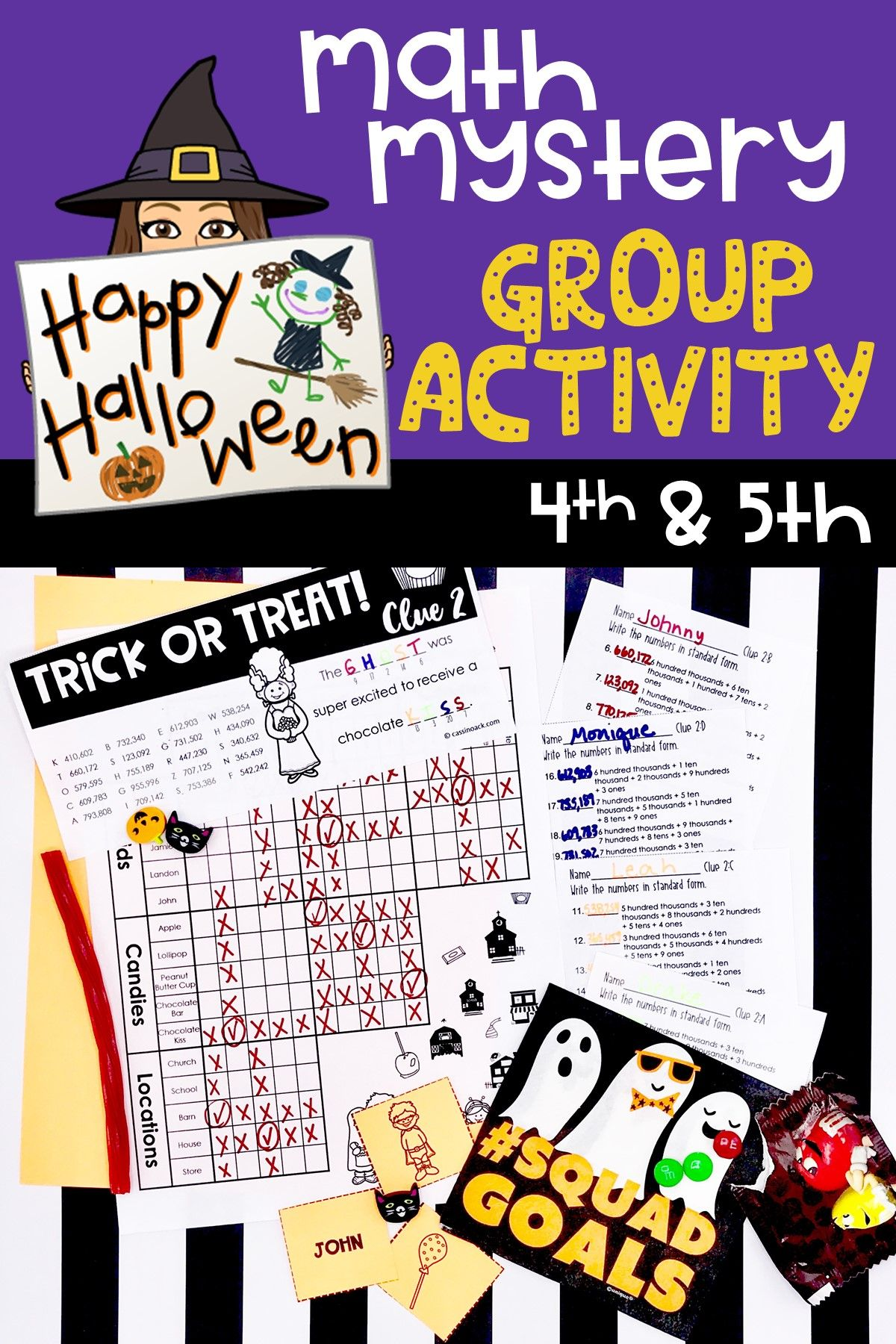 8 Best Halloween 5th Grade Fractions Worksheets Images On