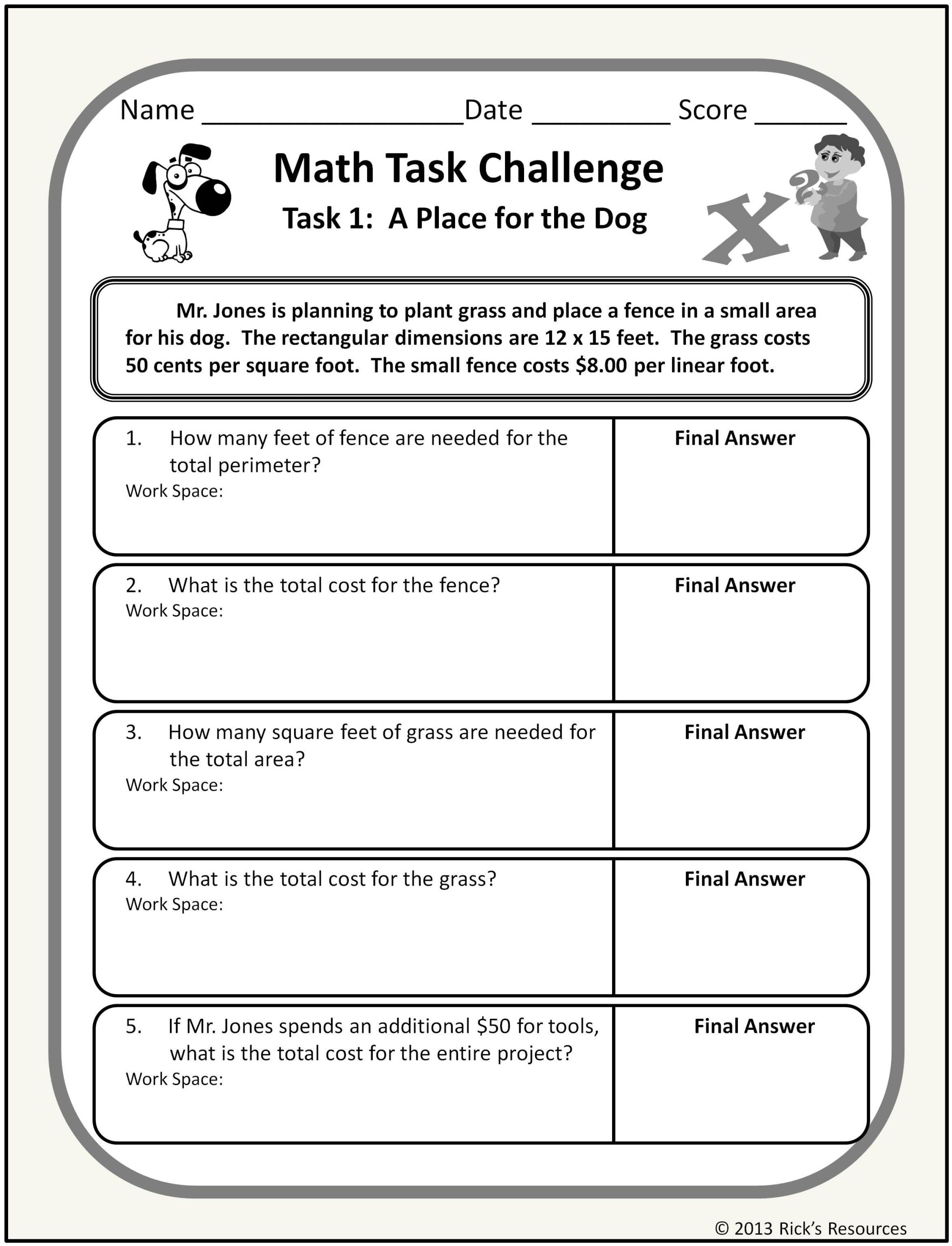 hight resolution of 7 Best 7th Grade Math Worksheets Problems images on Best Worksheets  Collection