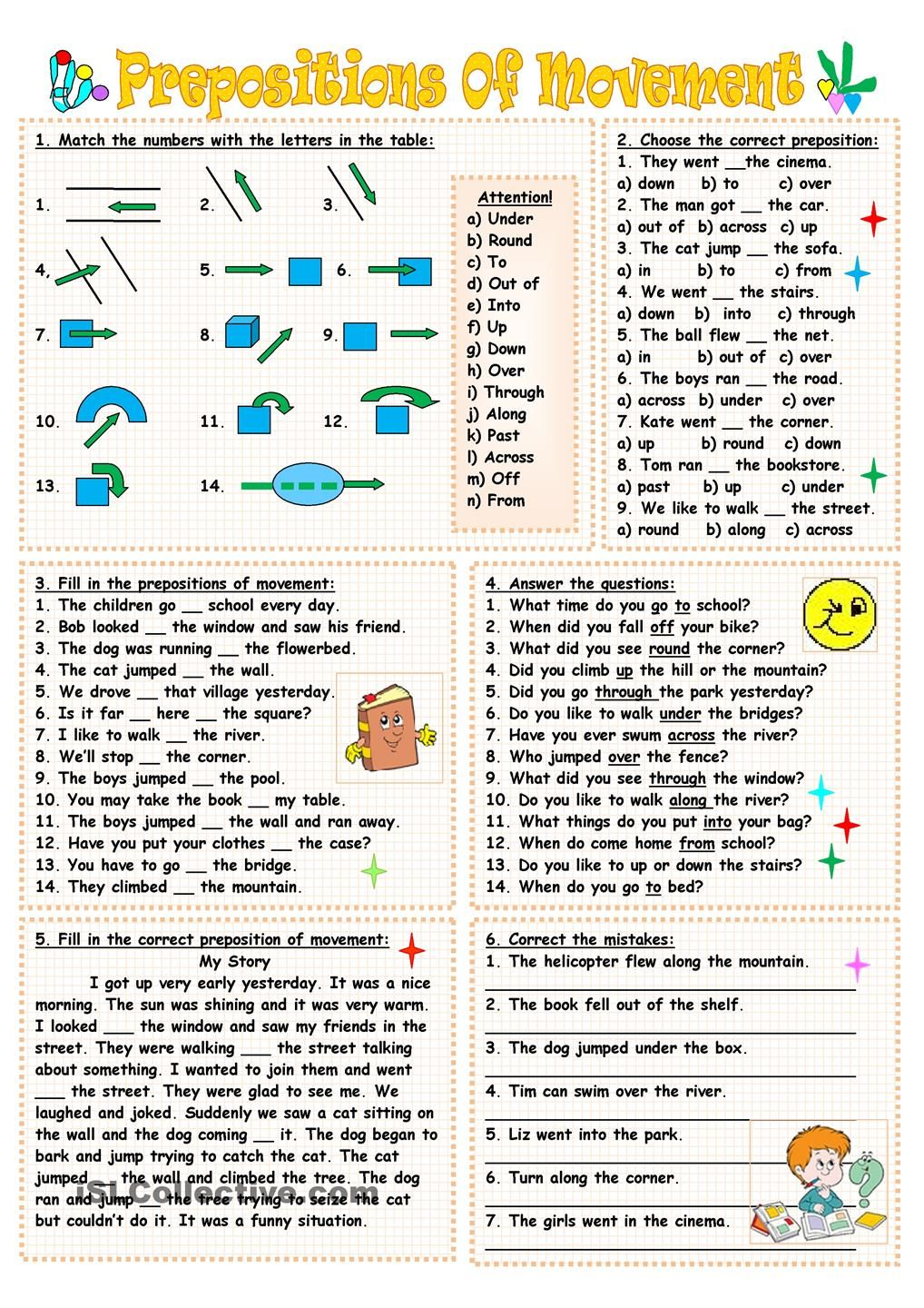 hight resolution of 8 Best Preposition Worksheets For Fifth Grade images on Best Worksheets  Collection