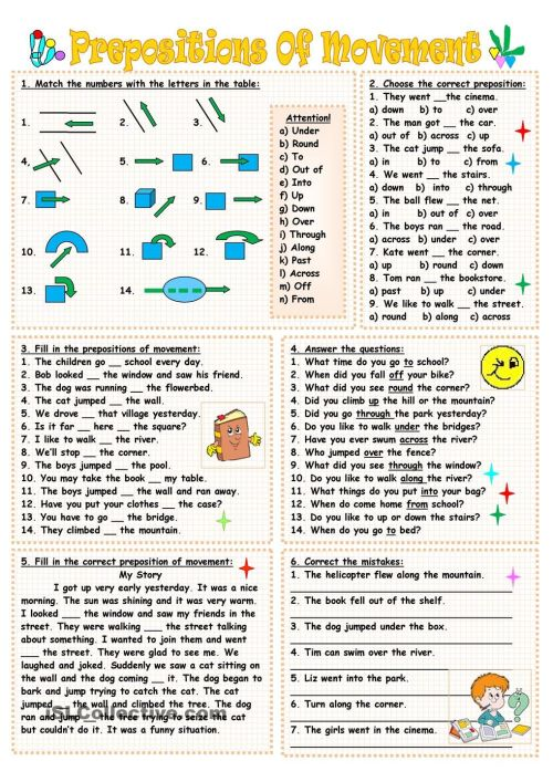 small resolution of 8 Best Preposition Worksheets For Fifth Grade images on Best Worksheets  Collection