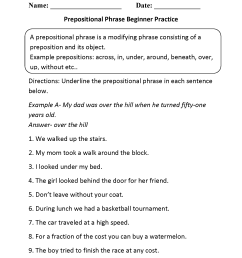 8 Best Preposition Worksheets For Fifth Grade images on Best Worksheets  Collection [ 2200 x 1700 Pixel ]
