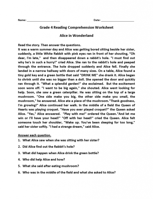 small resolution of 4th Grade Reading Comprehension Worksheets   Phonics Activities on Best  Worksheets Collection 1079