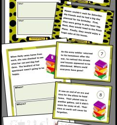 Summarizing Activities For 4th Grade Bundle Wh Questions Worksheets on Best  Worksheets Collection 8605 [ 2400 x 960 Pixel ]