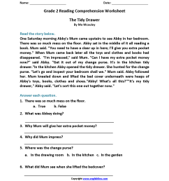 9 Best Grade 2 Worksheets With Questions For Comprehension images on Best  Worksheets Collection [ 2200 x 1700 Pixel ]