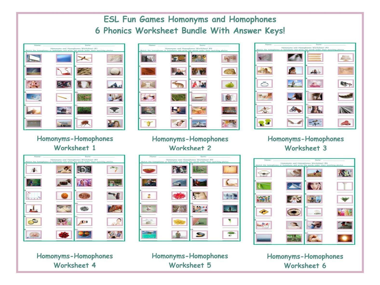 11 Best Homophones Worksheets For Grade 1 Images On Best