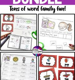 Word Families Worksheets Bundle   First Grade   Family on Best Worksheets  Collection 2224 [ 1104 x 736 Pixel ]