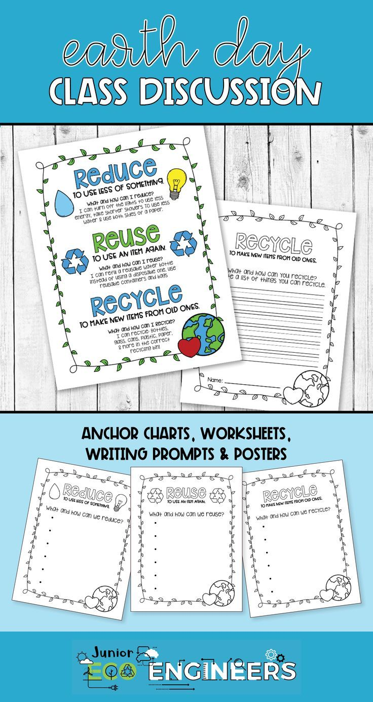 hight resolution of Recycling Anchor Charts   Recycle Earth Day Worksheets on Best Worksheets  Collection 3963