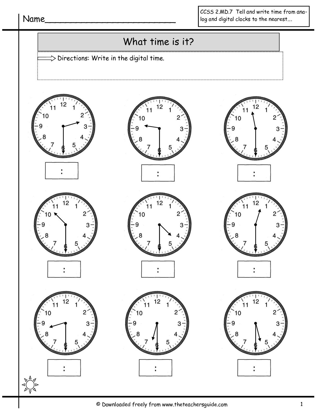 15 Best Telling Time Worksheets Images On Best Worksheets