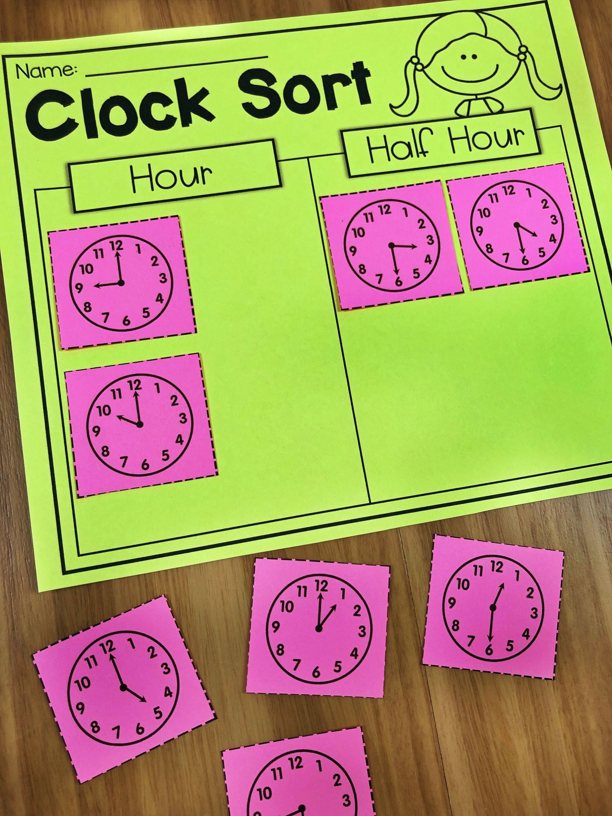 hight resolution of First Grade Time Worksheets - Hour