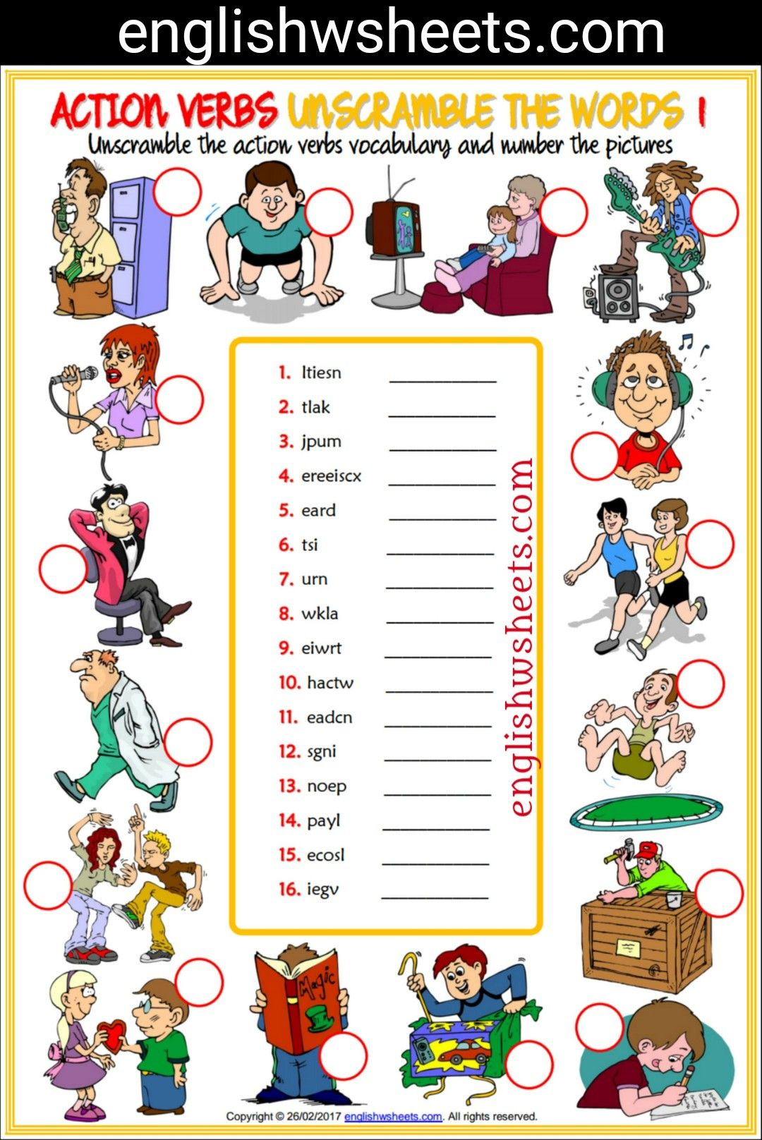 hight resolution of 11 Best Action Verbs Worksheets images on Best Worksheets Collection