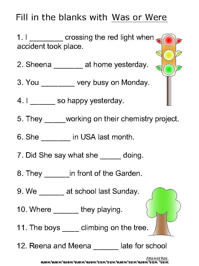 medium resolution of Helping Verb Worksheets For Was
