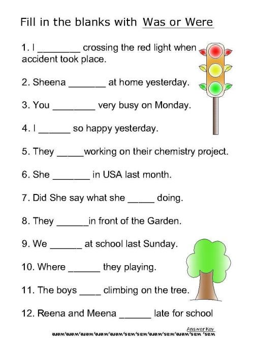 small resolution of Helping Verb Worksheets For Was