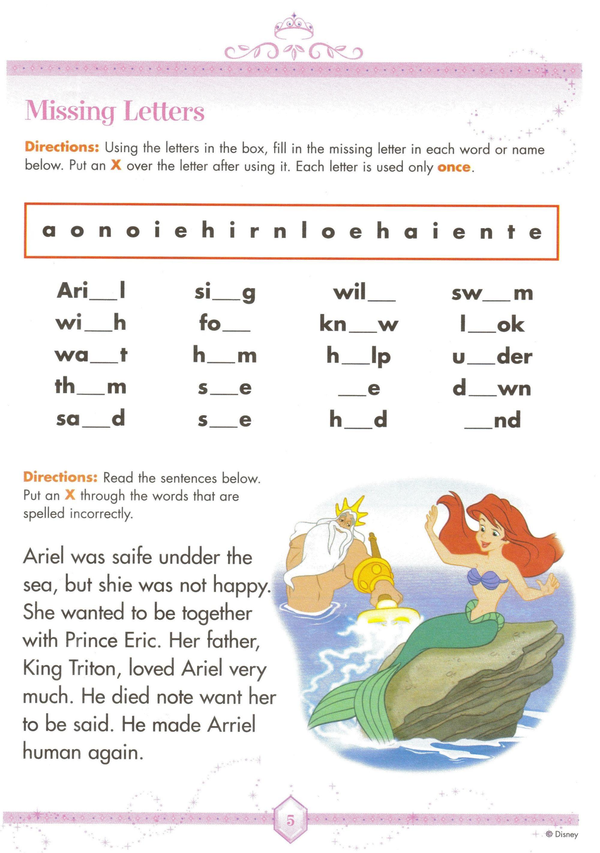 hight resolution of Disney Worksheet   Learning For Kids   Spelling Worksheets on Best  Worksheets Collection 9816