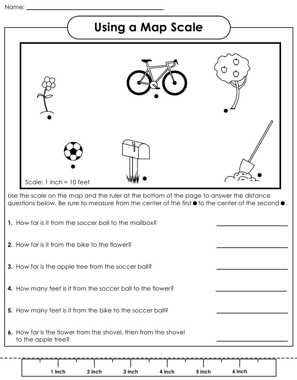 medium resolution of Map Scale Worksheet   School   Map Worksheets