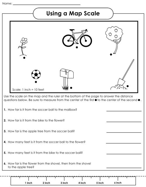 small resolution of Map Scale Worksheet   School   Map Worksheets