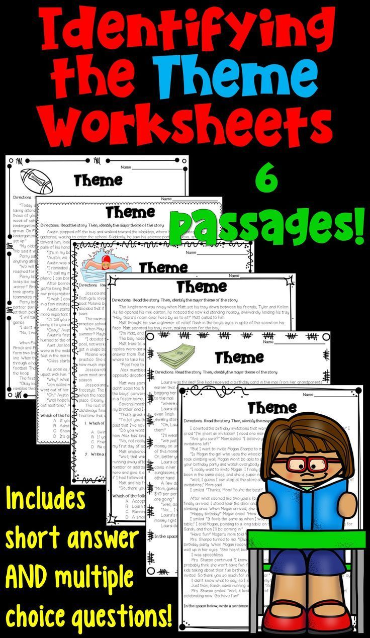 hight resolution of Themes In Literature Worksheets   School - English   Reading Lessons on  Best Worksheets Collection 6756