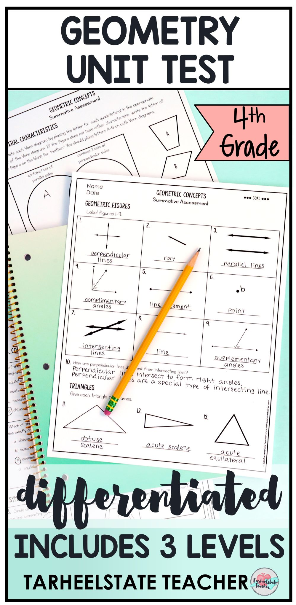 medium resolution of All 4th Grade Geometry Worksheets Or Tests 4g1