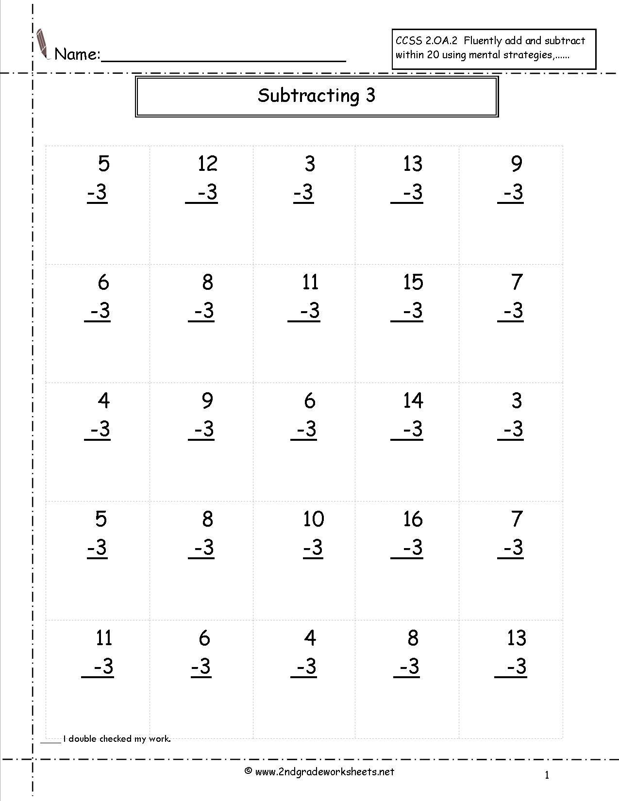Second Grade Math Worksheets