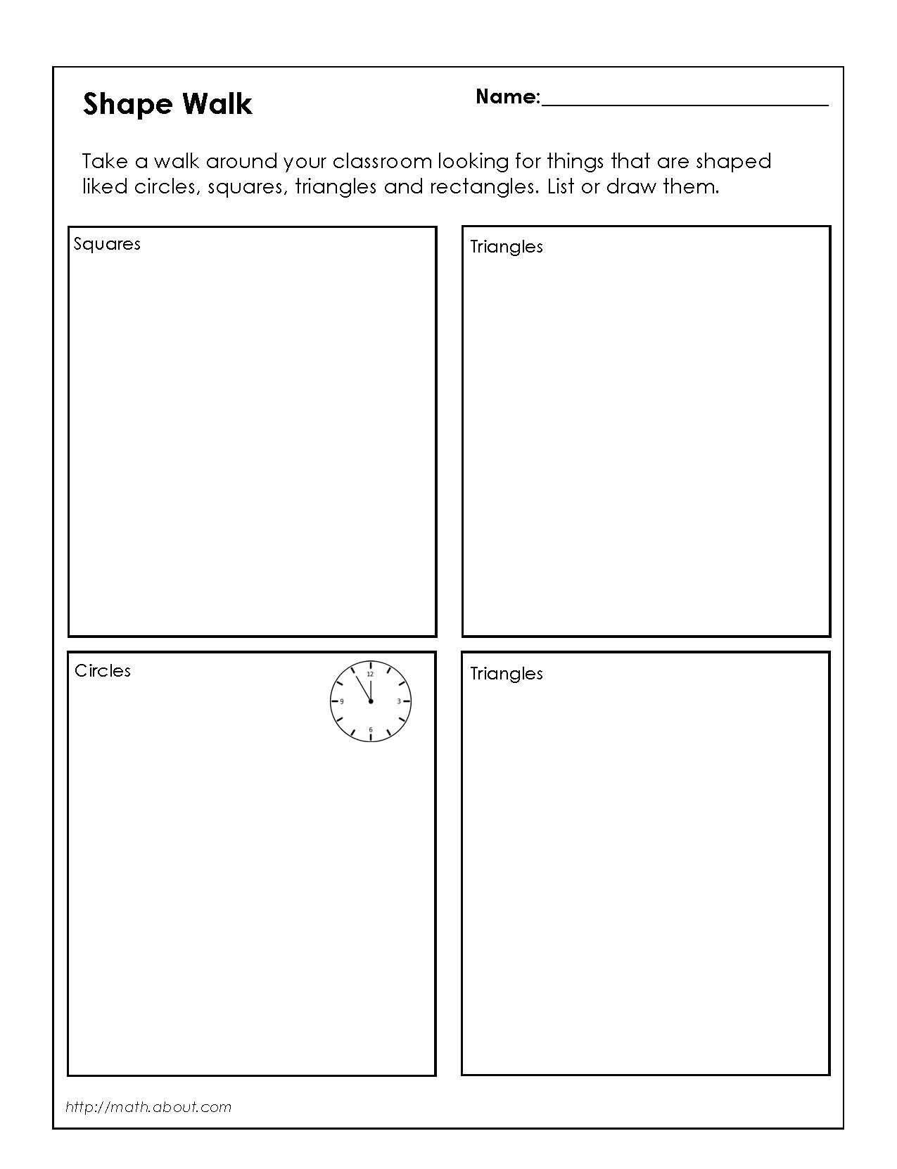 12 Best 2nd Grade Geometry Worksheets Shapes Images On