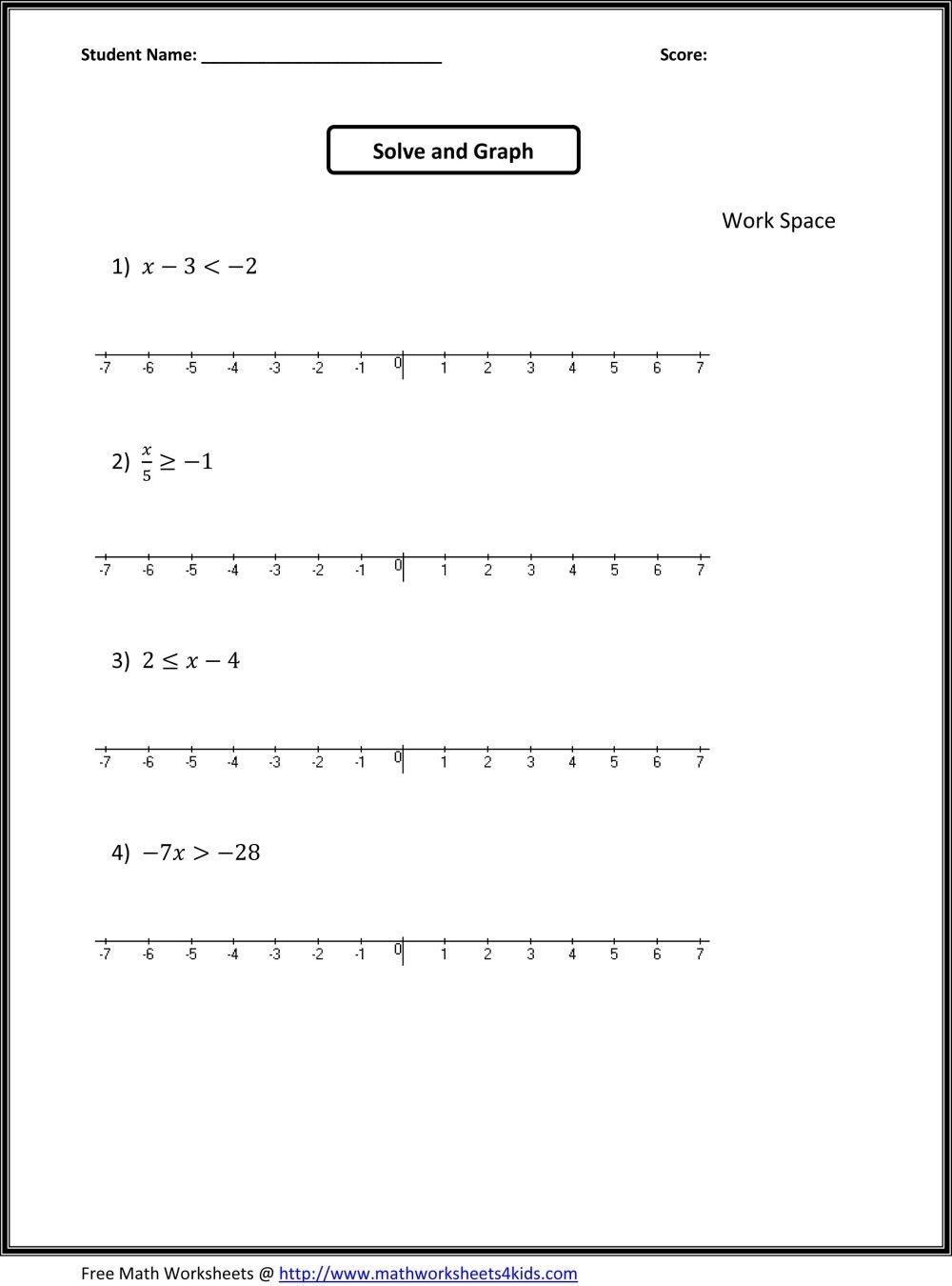 medium resolution of 11 Best Seventh Grade Algebra Worksheets images on Best Worksheets  Collection