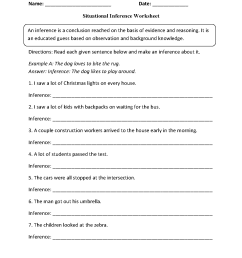 16 Best Inference Worksheets 7th Grade images on Best Worksheets Collection [ 1662 x 1275 Pixel ]