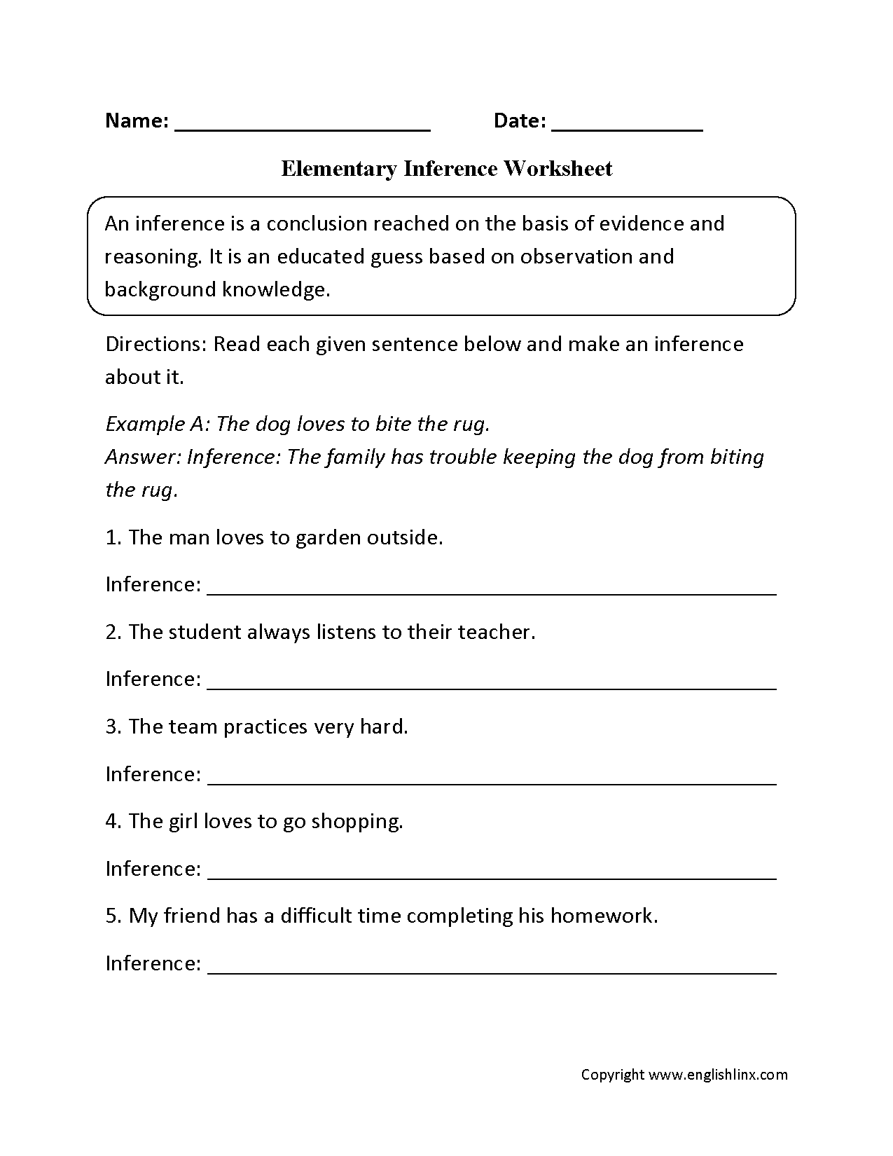 hight resolution of 16 Best Inference Worksheets 7th Grade images on Best Worksheets Collection