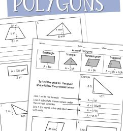 Color Polygons Worksheet   Printable Worksheets and Activities for  Teachers [ 2814 x 1875 Pixel ]