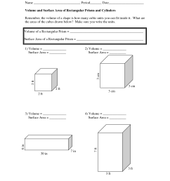 Volume And Surface Area Worksheets   The Volume And Surface on Best  Worksheets Collection 7060 [ 1650 x 1275 Pixel ]