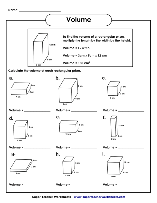 small resolution of 8 Best Volume Cubes Worksheets images on Best Worksheets Collection