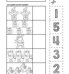 Santa Number Cut \u0026 Match Worksheets   Numbers 1-5   Autism on Best  Worksheets Collection 547 [ 3300 x 2550 Pixel ]