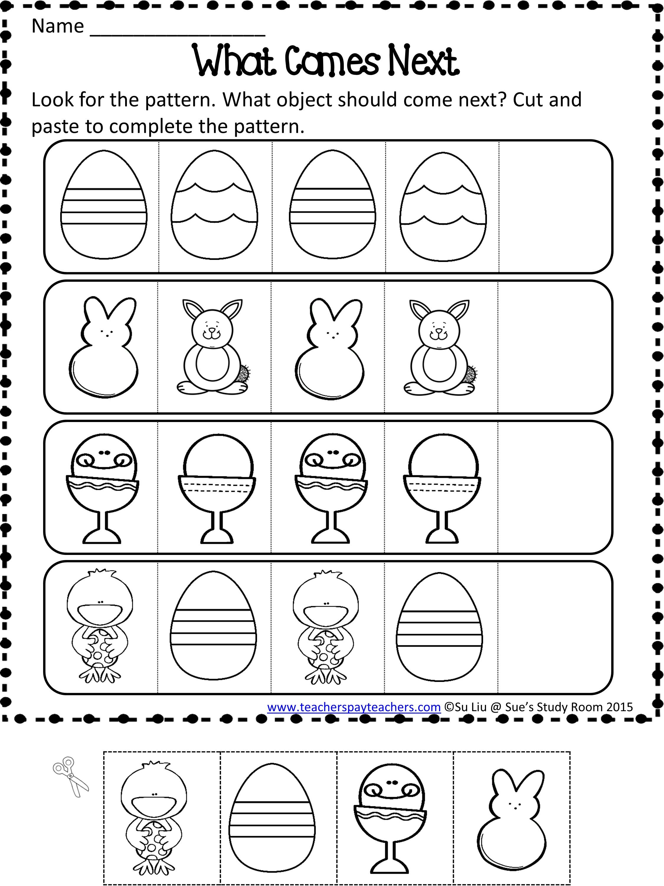 16 Best Preschool Worksheets Complete The Pattern Images