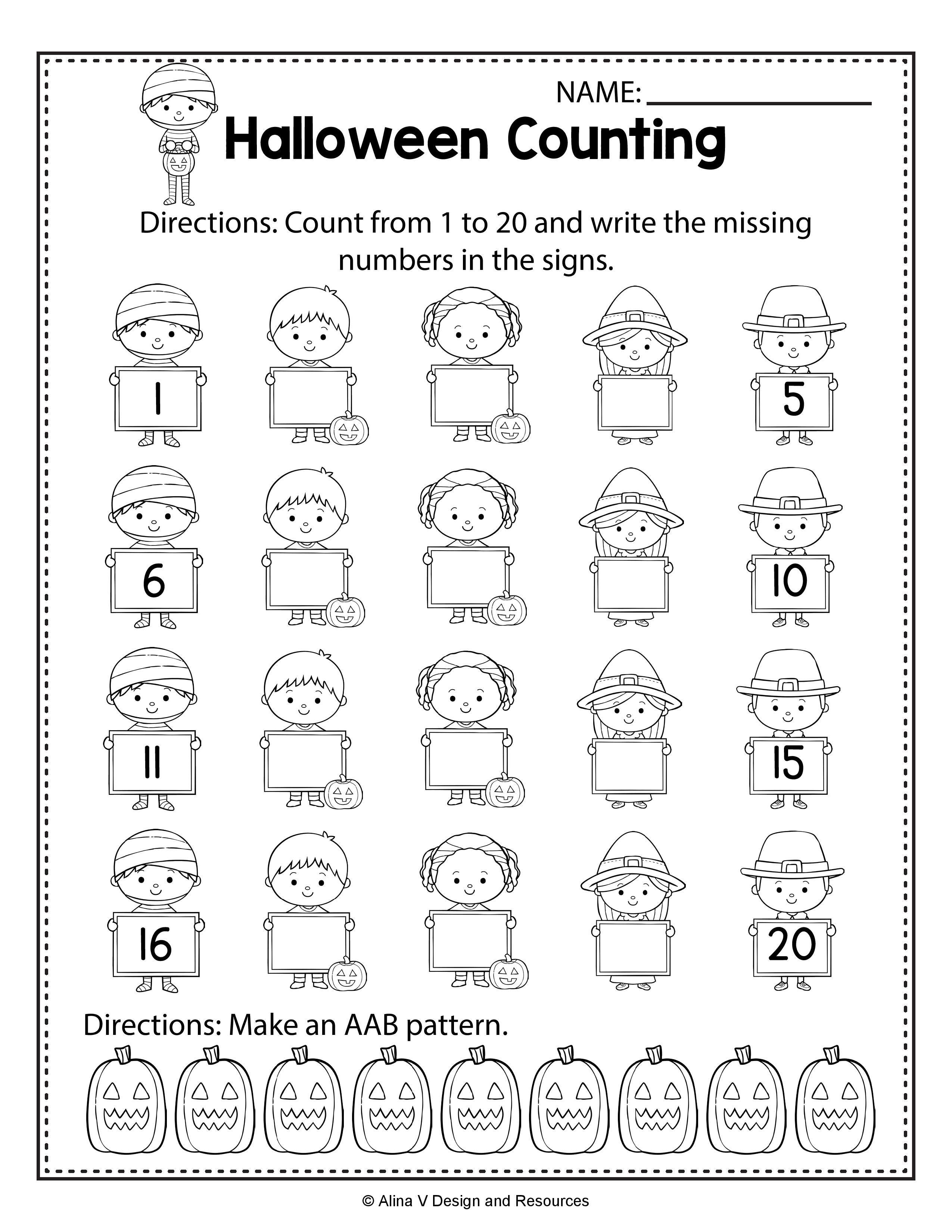 16 Best Fall Preschool Worksheets Numbers Images On Best
