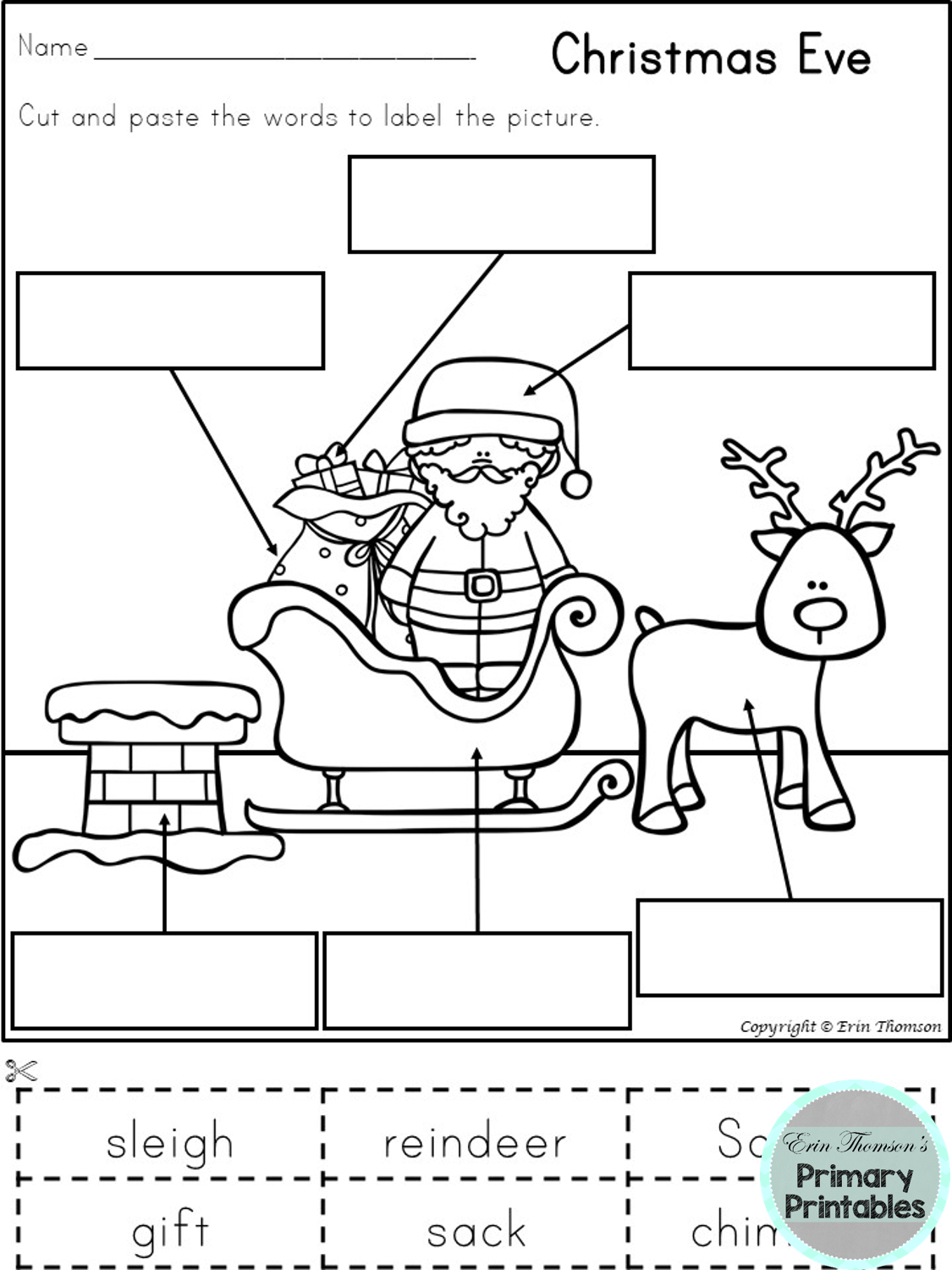 19 Best Christmas Themed Worksheets Images On Best