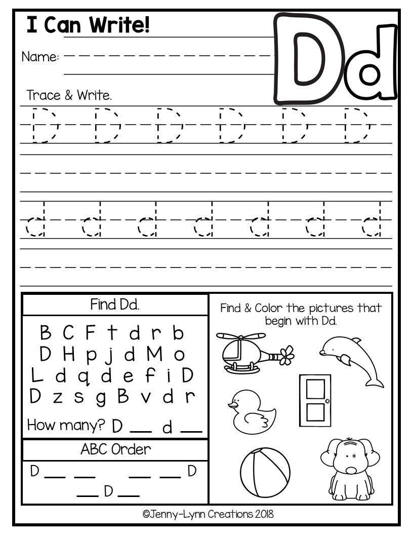 hight resolution of Kindergarten Abc Worksheets   Letter Worksheets   Abc on Best Worksheets  Collection 5735