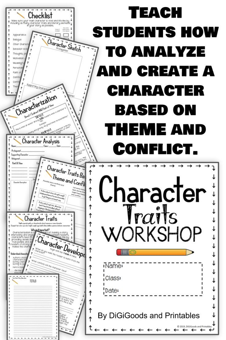 medium resolution of Character Traits Worksheets: Character Types