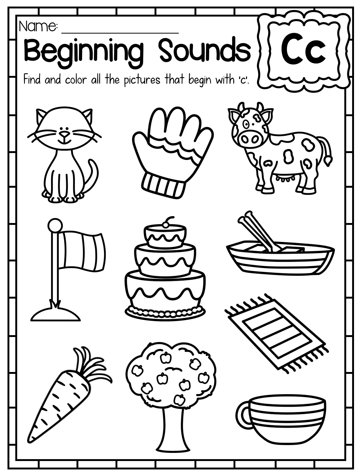 Kindergarten Alphabet Worksheets For Children Alphabet On