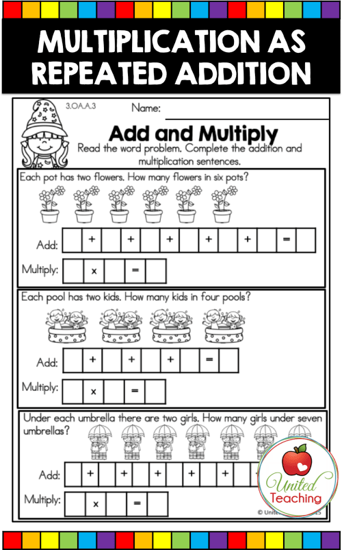 small resolution of Kids Academy Repeated Addition Worksheets   Printable Worksheets and  Activities for Teachers