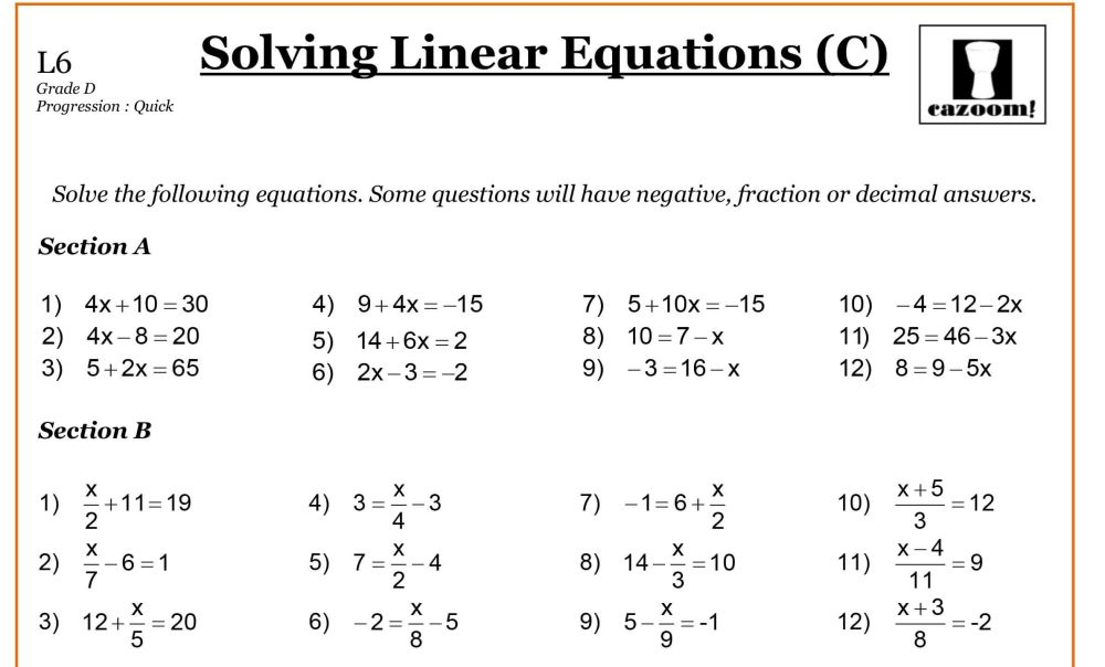 medium resolution of 19 Best 6th Grade Algebra Equations Worksheets images on Best Worksheets  Collection
