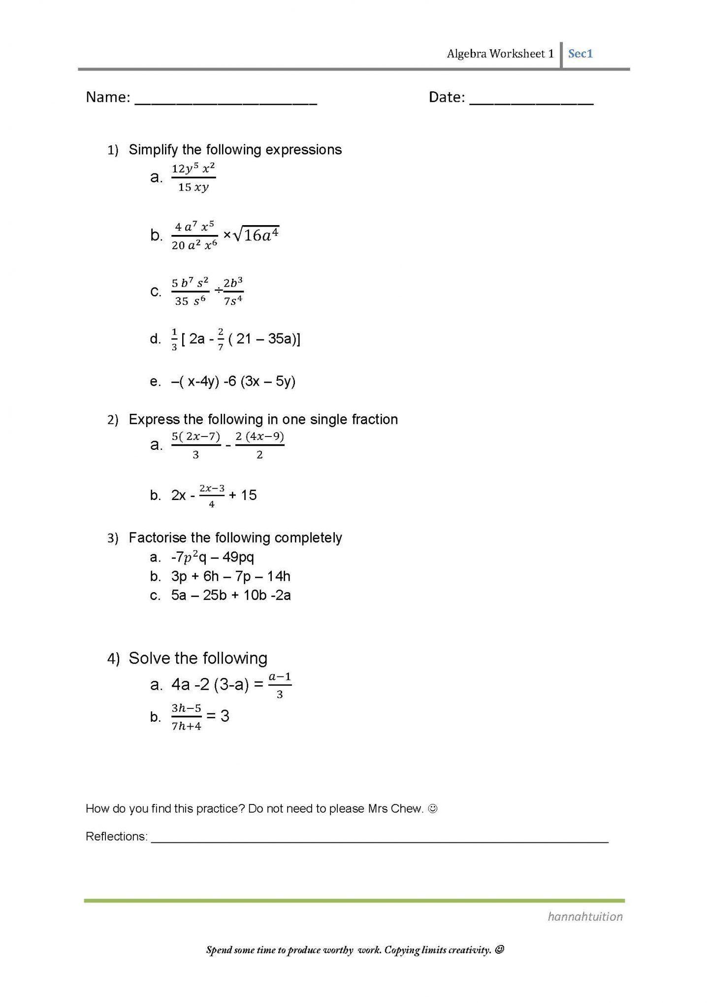 19 Best 6th Grade Algebra Equations Worksheets Images On