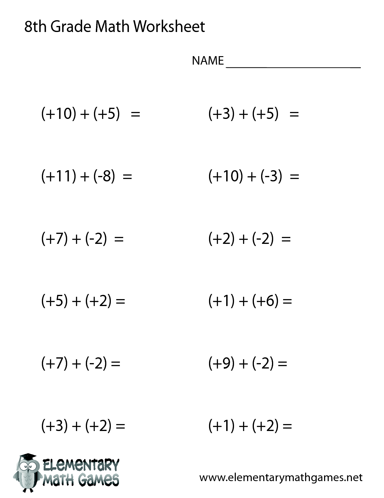 9th Grade Math Worksheets And Answers Free Library With On