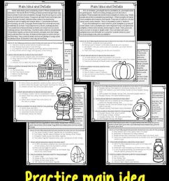 Main Idea And Supporting Details: 11 Monthly Worksheets!   3rd Grade on  Best Worksheets Collection 8575 [ 1269 x 736 Pixel ]