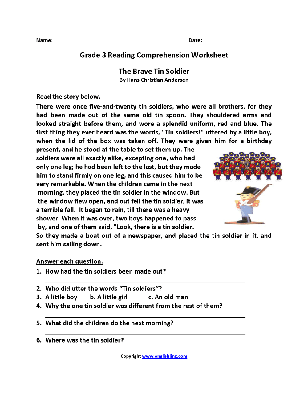 medium resolution of 20 Best 6th Grade Reading Comprehension Printable Worksheets With Questions  images on Best Worksheets Collection