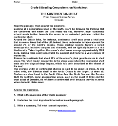 18 Best Ful Page With Questions 6th Grade Reading Comprehension Worksheets  images on Best Worksheets Collection [ 2200 x 1700 Pixel ]